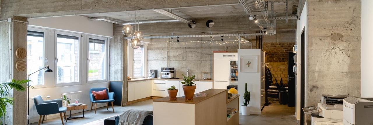 Offene Fläche im Coworking Space