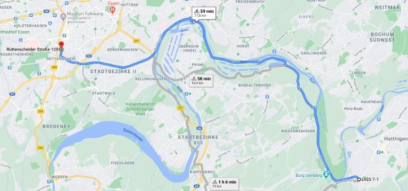 Mit dem Fahrrad aus Hattingen ins collective.ruhr